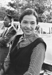 Rosa Parks en 1955 con Martin Luther King
